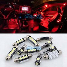 12V Red 9X Lights SMD LED Interior Package Kit For VW PASSAT B5 1998-2000 A