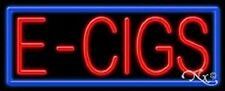 "NEW ""E - CIGS"" 32x13x3 BORDER REAL NEON SIGN w/CUSTOM OPTIONS 11387"