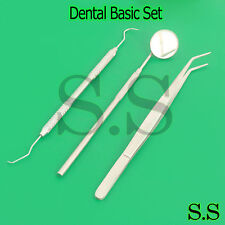 3PCS Dentist Dental Mouth Mirror and Scaler Hygiene Examination Cleaning Tools