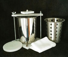 "4"" STAINLESS STEEL CHEESE PRESS w/ FREE SOFT CHEESE * FREE SHIPPING*"