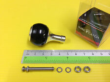 Surecatch Small Size Black Color Handle Round Knob for Daiwa Spinning Reels.