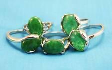 wholesale 10p Thick  Silver mixed 100% Natural Malay jade ring 6-10
