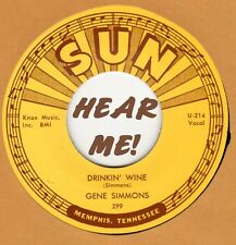 ROCKABILLY REPRO: SUN 299 – GENE SIMMONS – DRINKIN' WINE / I DONE TOLD YOU