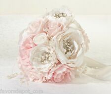 Chic & Shabby Bouquet  Blush Pink & Cream Wedding Bouquet