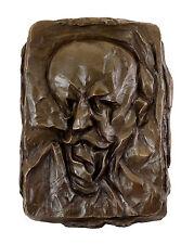 """Bronze - Relief  """"Bildnis des Vaters (1912)"""" - nach Otto Gutfreund"""