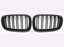 Dual Fin Look Gloss Black Front Grille Grill For 2006-2013 BMW E70 E71 X5 X6 SUV