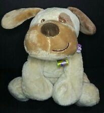 "11"" Taggies Mary Meyer Puppy Dog Cream Tan Brown Soft Plush Stuffed Baby Tag Toy"
