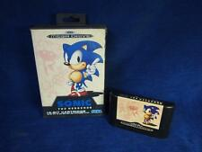 Classic Sega Mega Drive Console Game Cartridge & Box Only Sonic the Hedgehog