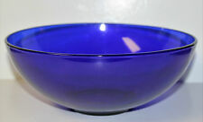 Cobalt Blue Glass Bowl Large