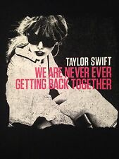 VINTAGE TAYLOR SWIFT WE ARE NEVER EVER GETTING BACK TOGETHER T SHIRT MEDIUM
