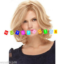 New Fashion Latest Elegant Curly Synthetic Hair wig Blonde wigs