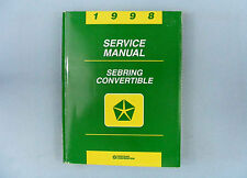 Service Manual, 1998 Chrysler Sebring Convertible (JX), 81-270-8122