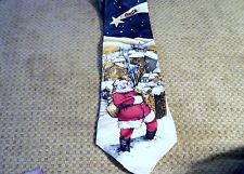 COCA-COLA NECKTIE WITH SANTA WITH PRESENTS (RED/WHITE/BLUE/GOLD)