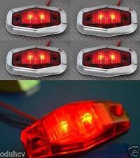 4x LED Arrière Rouge Cadre Chromé 12V feux de position Bus Camion Camping car
