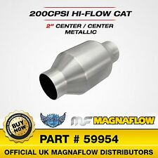 "2"" 50mm Magnaflow Universal High Flow Sports Catalytic Converter 200 Cell 59954"