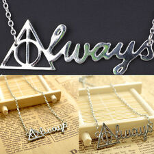 Europe Style Film Letter Necklace Deathly Hallows Vintage Triangle Necklace