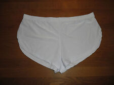 Men's Large Sexy White Brushed Soft Nylon Split Side Shorts Lingerie Gay UK