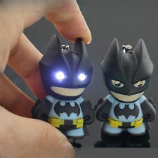 Cartoon Batman Light Up LED Torch With sound Keyring KeyChain GIFT