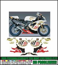 kit adesivi stickers compatibili  rsv 1000 r ms moto gp
