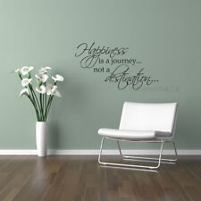 Wall Decal Quote - Happiness is a journey words sticker art