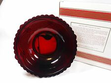 MINT Avon 1876 Cape Cod Ruby Red Glass SERVING BOWL with Original Box