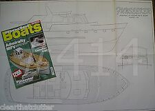 "Model boats magazine avril 2008-funseeker... libre - 32"" x plan de 22"" dessins"