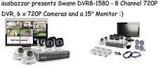 """Swann DVR8-1580 - 8 Channel 720P DVR, 6 x 720P Cameras and a 15"""" Monitor"""