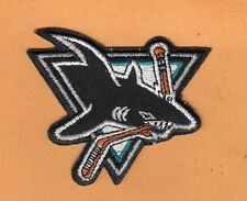 NHL HOCKEY SAN JOSE SHARKS 3 inch LOGO JERSEY PATCH Unsold Stock IRON ON