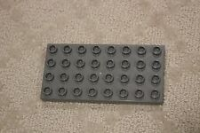 "Lego Duplo Base Plate Dark Gray  4 x 8  5"" x 2.5"" Floor Foundation"