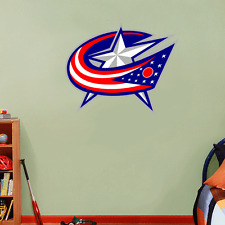"Columbus Blue Jackets NHL Hockey Wall Decor Sticker Decal 25"" x 21"""