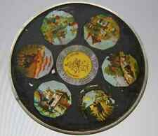 Ancienne plaque lanterne magique circulaire fin XIX° pays monde Allemagne Suisse