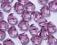 Bicone Beads Swarovski Crystal Light Amethyst 8mm x 4pcs
