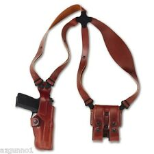 "Galco Vertical Shoulder Holster, Ambi Tan for 1911's, 4"" VHS266"