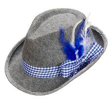 Trachten Hut mit Federn blau für Damen und Herren NEU - Karneval Fasching Hut Mü
