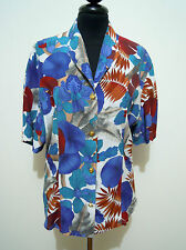 CULT VINTAGE '80 Camicia Donna Rayon Hawaii Style Woman Shirt Sz.L - 46