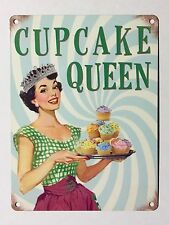 Cupcake Queen SML - Tin Metal Wall Sign