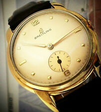 BEAUTY VINTAGE BREITLING WATCH 18K GOLD PLATED FROM 1940s (NO RESERVE PRICE)