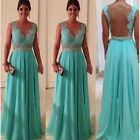 Elegant Long Sexy Evening Party Ball Prom Gown Bridesmaid Formal Cocktail Dress