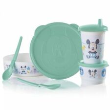 Tupperware Disney's Baby Mickey Mouse Feeding Set New BPA FREE SHIPPING