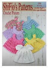 CROCHET PATTERN for BABY GIRL DRESS & 6 APRONS #20 By ShiFio Patterns