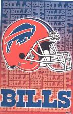 2002 Buffalo Bills Helmet Logo Original Starline Poster OOP
