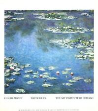 Water Lilies by Claude Monet. Art Institute Of Chicago Art Print Poster (13x15)