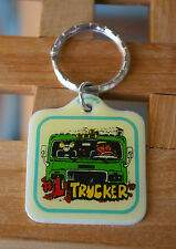 """Old """"#1 Trucker"""" Cat & Mouse Metal Key Chain Keychain Keyring Ring by Contenova"""
