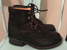 Womens Frye Engineer Lace up Black SZ 8