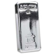 100 oz Silver Bar - APMEX/RMC (.9999 Fine, Co-Branded) - SKU #91240