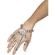 Women's Day Of The Dead Skeleton Hand Bracelet Fancy Dress Halloween Bones Fun