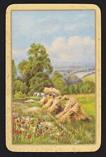 1 Single VINTAGE Swap/Playing Card EN COUNTRY SCENE 'HARVEST TIME HA-2-1-A'