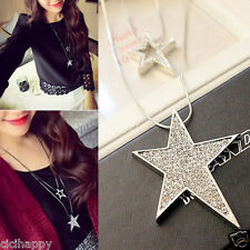 Star pendant Double layer long necklace two layer Silver UK Seller