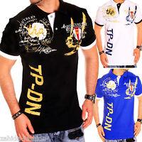 ZAHIDA Herren Poloshirt Slim Fit Hemd Kurzarm T-Shirt Polo Schwarz,Weiß,Blau NEU