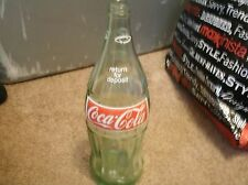 Original Vintage 1970s Coca Cola Coke 32 oz green Glass Returnable Bottle